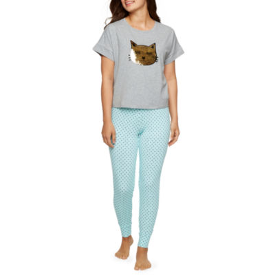 Pj Couture Womens Reversible Sequin Pant Pajama Set