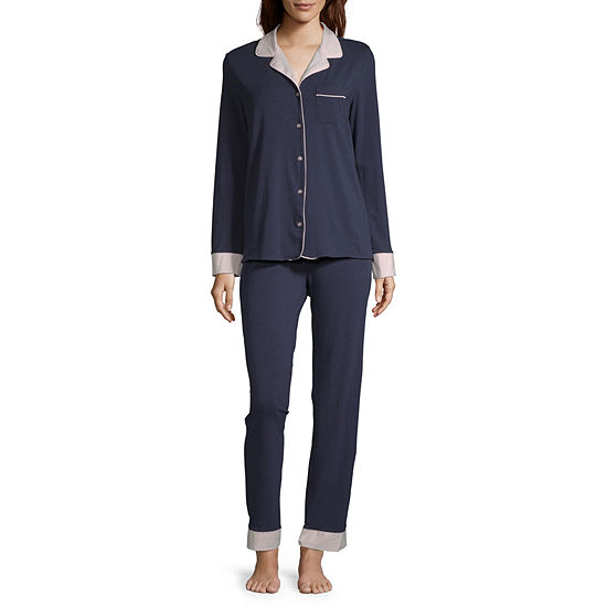 Liz Claiborne® Women's Notch Collar Pajama Set