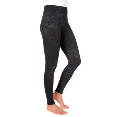 Muk Luks Embossed Womens High Waisted Legging