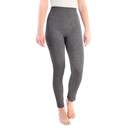 Muk Luks Printed Womens Full Length Leggings, Medium-large , Black
