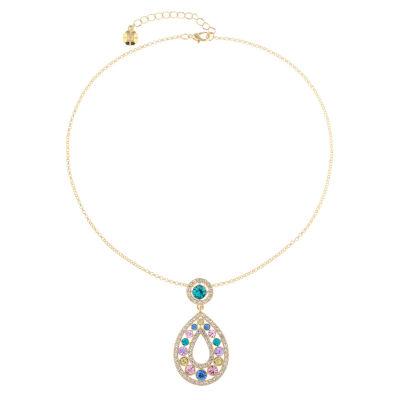 Monet Jewelry Womens Multi Color Pendant Necklace