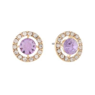 Monet Jewelry Purple 14mm Stud Earrings