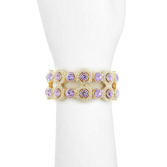 Monet Jewelry Purple Stretch Bracelet