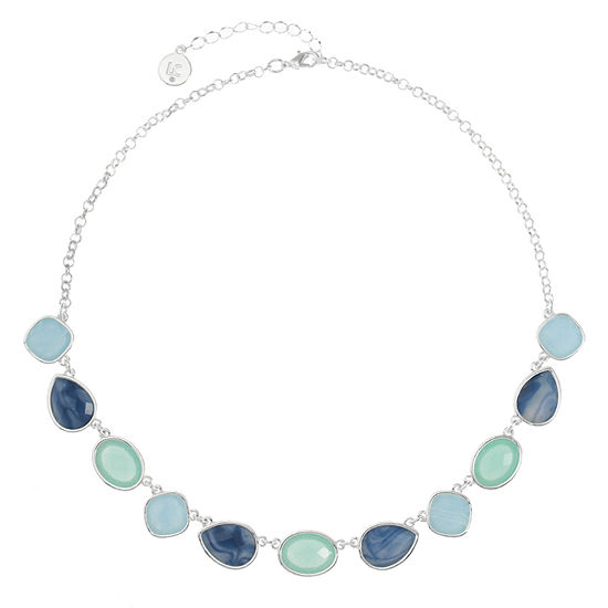 Liz Claiborne Blue 18 Inch Cable Collar Necklace