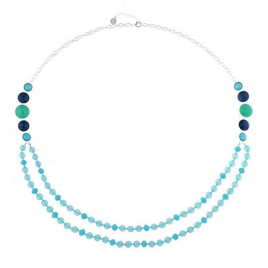Liz Claiborne Blue 28 Inch Cable Strand Necklace