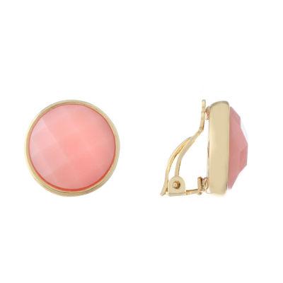 Liz Claiborne Pink Clip On Earrings