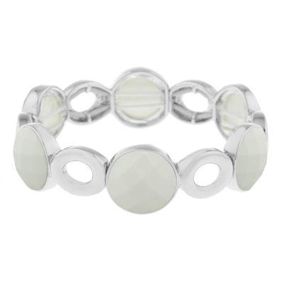 Liz Claiborne White Stretch Bracelet