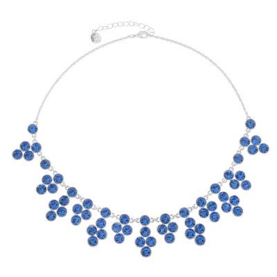 Monet Jewelry Womens Blue Statement Necklace