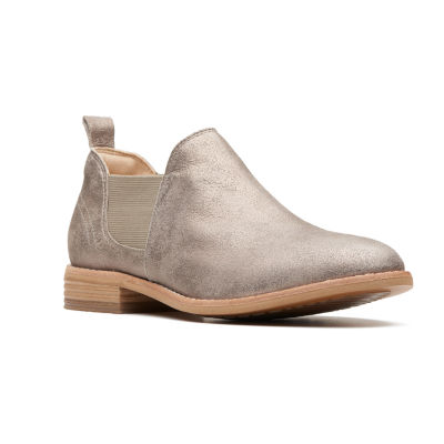 Clarks Womens Edenvale Page Stacked Heel Pull-on Chelsea Boots