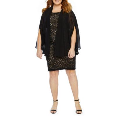 Scarlett Sleeveless Jacket Dress-Plus