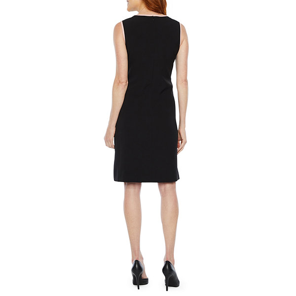 Black Label by Evan-Picone Sleeveless Sheath Dress