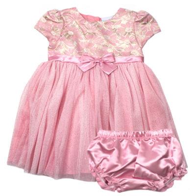 Nanette Baby Short Sleeve Babydoll Dress - Baby Girls