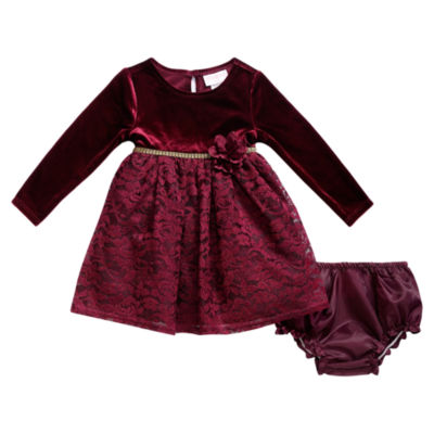 Young Land Long Sleeve A-Line Dress - Baby Girls