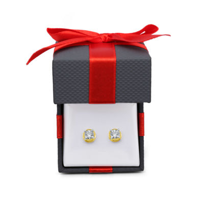 3/4 CT. T.W. Genuine White Diamond 10K Gold Stud Earrings