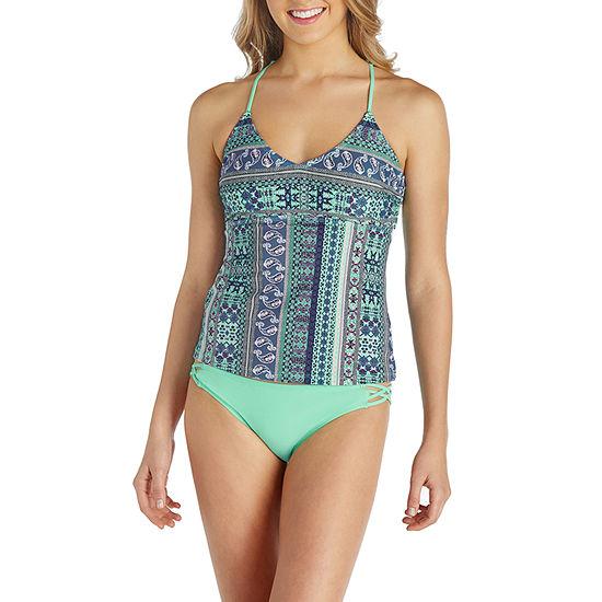 Arizona Geo Linear Tankini Swimsuit Top Or Swimsuit Bottom Juniors