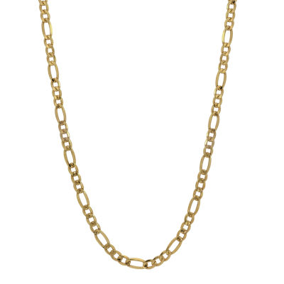 "10K Yellow Gold 2.9mm 20-22"" Hollow Figaro Chain"