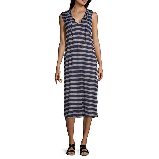 caa52300f8 Porto Cruz Striped Knit Swimsuit Cover-Up Dress - JCPenney