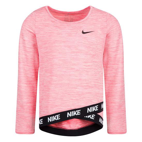 Nike Girls Crew Neck Long Sleeve Tunic Top - Preschool