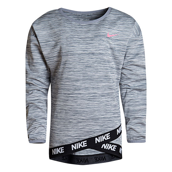 Nike Girls Crew Neck Long Sleeve Tunic Top - Preschool