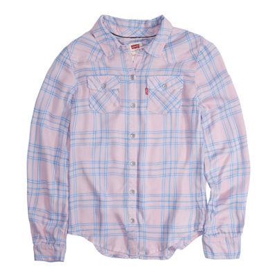 Levi's Western Long Sleeve Button Front Top - Girls