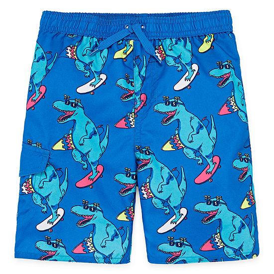 Okie Dokie Boys Swim Trunks-Toddler