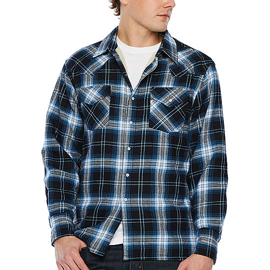 9dba1bfc612 Ely Cattleman Sherpa Lined Brawny Plaid Snap Front Shirt JCPenney