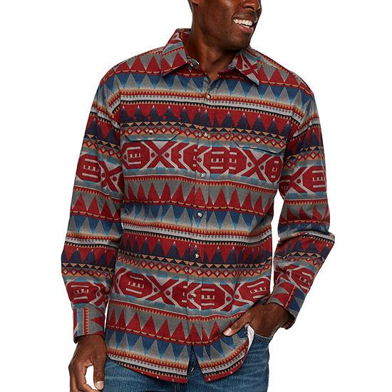 Ely Cattleman Mens Long Sleeve Western Shirt Tall
