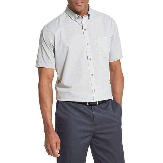 Van Heusen Flex Short Sleeve Non Iron Stretch Button-Down Shirt