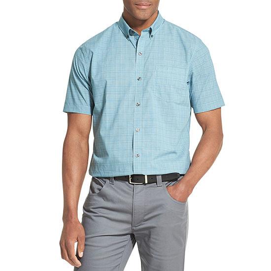 b4676d5cc78cf Van Heusen Van Heusen Flex Short Sleeve Non Iron Stretch Shirt Short Sleeve  Button Front Shirt JCPenney