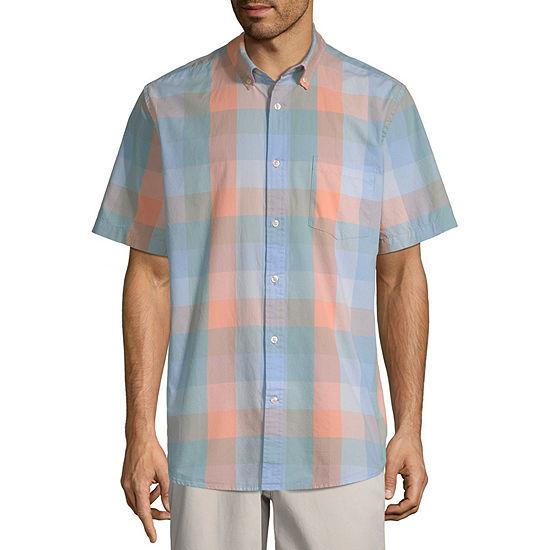 b74957e72204 St Johns Bay Short Sleeve Plaid Button Front Shirt JCPenney