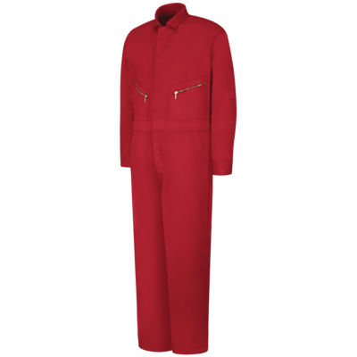 Red Kap® C18 Zip-Front Cotton Coveralls–Big & Tall