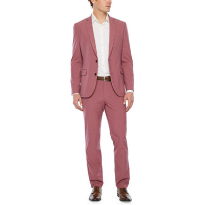 JF J. Ferrar Mauve Super Slim Fit Suit Separates