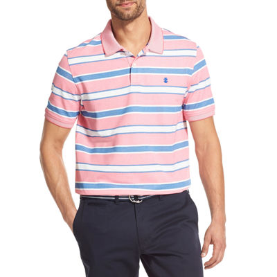 IZOD Advantage Performance Mens Short Sleeve Striped Polo