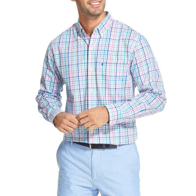 IZOD Premium Essentials Mens Long Sleeve Button-Front Shirt