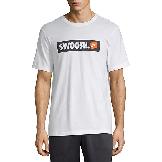 Nike Mens Swoosh Cotton Graphic T-Shirt