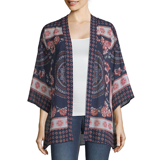 Artesia Womens Long Sleeve Kimono