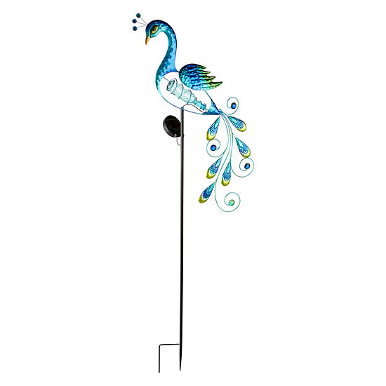 Outdoor Oasis Solar Peacock  Yard Stake