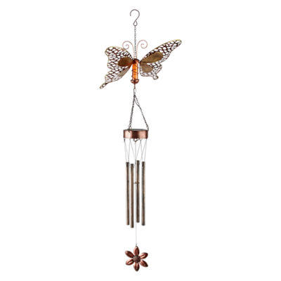 Outdoor Oasis Butterfly Solar Wind Chime