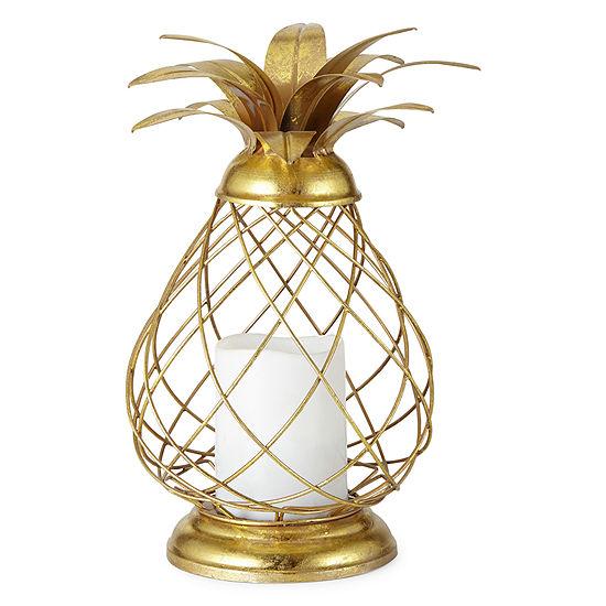 Outdoor Oasis Metal Pineapple Solar Outdoor Lantern