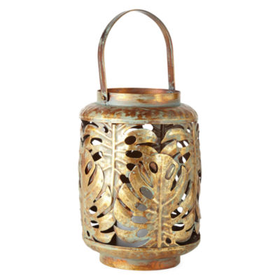 Outdoor Oasis Metal Leaf Solar Outdoor Lantern