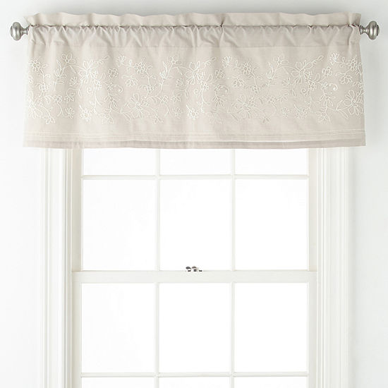JCPenney Home Chatham Rod-Pocket Tailored Valance