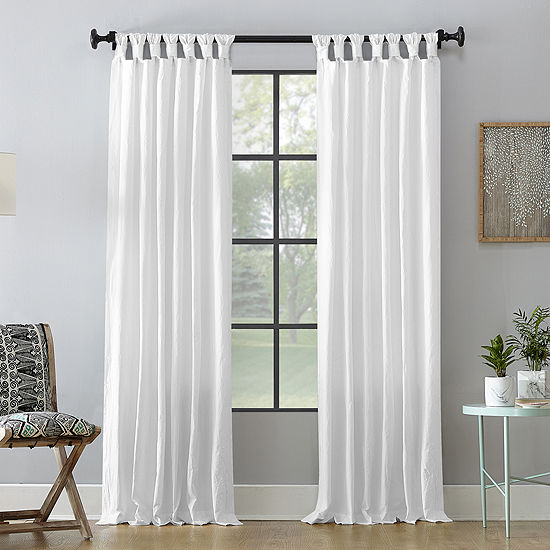 Archaeo Washed Cotton Light Filtering Tab Top Curtain Panel