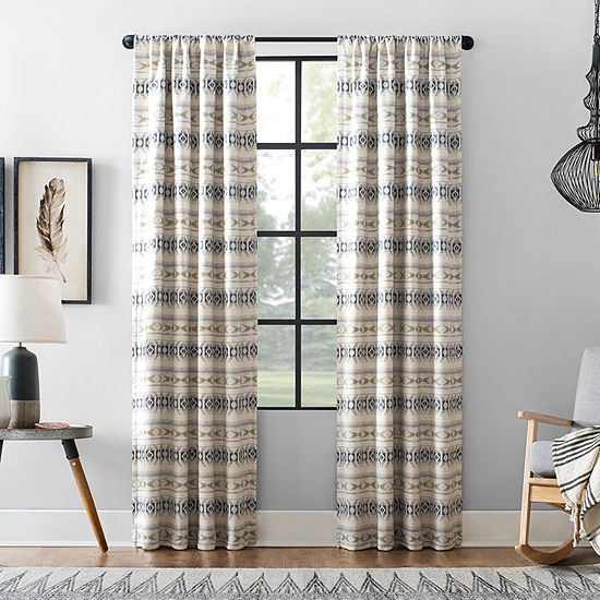 Archaeo Imari Blackout Rod-Pocket Curtain Panel