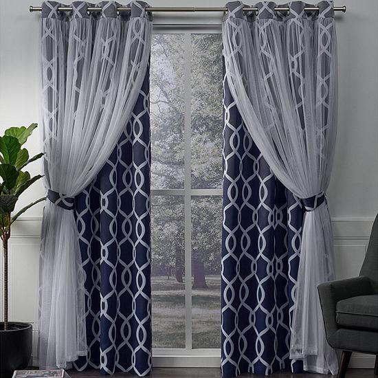 Carmela Energy Saving Blackout Grommet-Top Curtain Panel