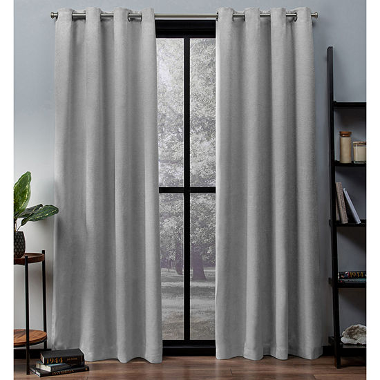 Exclusive Home Curtains Oxford Energy Saving Blackout Grommet-Top Set of 2 Curtain Panel