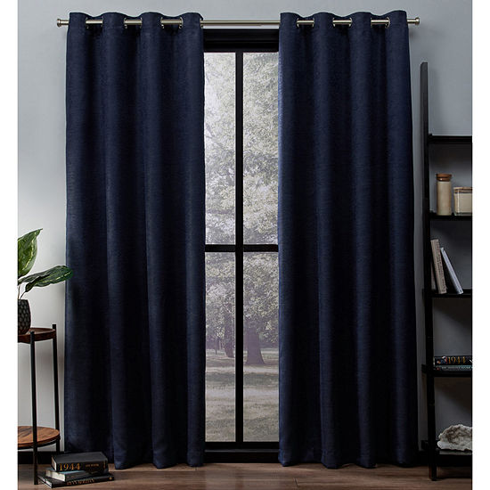 Oxford Multi-Pack Energy Saving Blackout Grommet-Top Curtain Panel