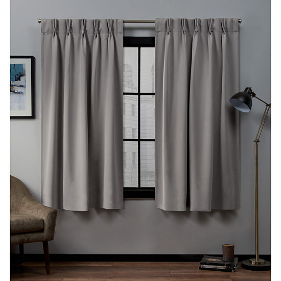 Sateen Double Pinch Pleat Multi-Pack Energy Saving Blackout Pinch-Pleat Curtain Panel