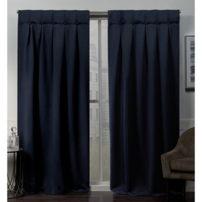 Sateen Button Blackout Thermal Back-Tab Curtain Panel