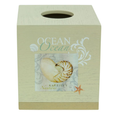 Bacova Guild Ocean Tissue Box Cover