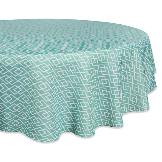 Design Imports Diamond Outdoor Tablecloth